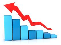 Business growth graph. 3D illustration of Business growth graph Stock Images