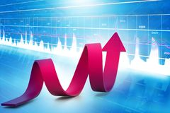 Business growth graph. Digital illustration of Business growth graph Stock Photos