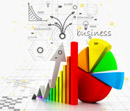 Business growth graph. Digital illustration of business growth graph Stock Images