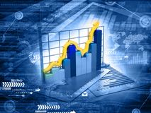 Business  growth graph. Financial background Royalty Free Stock Photos