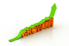 Business growth graph Stock Photos