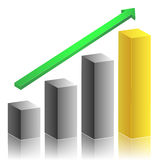 Business growth graph Royalty Free Stock Image