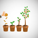 Business growth graphic design Stock Photography