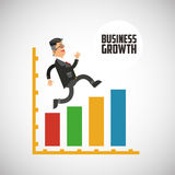 Business growth graphic design. Business growth, concept with icon design, vector illustration 10 eps graphic Stock Images