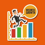 Business growth graphic design. Business growth, concept with icon design, vector illustration 10 eps graphic Royalty Free Stock Images
