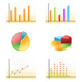 Business growth graphs Royalty Free Stock Photography