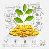 Business growth info graphics option. Royalty Free Stock Images