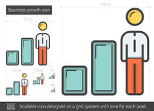 Business growth line icon. Royalty Free Stock Images