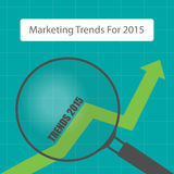 Business growth. Looking marketing trends for 2015 Stock Photography