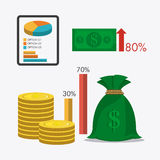 Business growth and money savings Stock Images