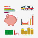 Business growth and money savings Stock Photography