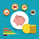 Business growth and money savings Royalty Free Stock Images