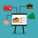 Business growth and money savings Stock Photos