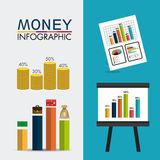 Business growth and money savings statistics Royalty Free Stock Image