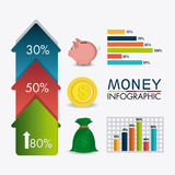 Business growth and money savings statistics Stock Images