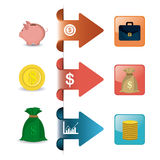 Business growth and money savings statistics Royalty Free Stock Photography