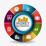 Business growth and money savings statistics Royalty Free Stock Photo