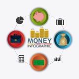 Business growth and money savings statistics Stock Image