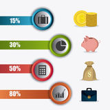 Business growth and money savings statistics Royalty Free Stock Images
