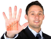 Business growth at the palm of your hand Royalty Free Stock Images