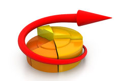 Business growth  pie graph. 3d render of business growth  pie graph Stock Image