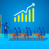 Business growth or planning discussion design Royalty Free Stock Photo