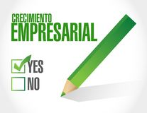 Business Growth question sign in Spanish. Illustration design graphic Stock Photography