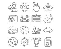 Business growth, Quick tips and Pay icons. Parking garage, Microphone and Sync signs. Vector. Set of Business growth, Quick tips and Pay icons. Parking garage vector illustration