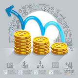 Business growth step infographics option. Royalty Free Stock Image