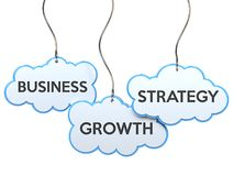 Business growth strategy on cloud banner Royalty Free Stock Images