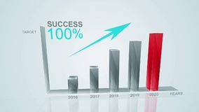 Business Growth And Success Arrow Infographics Chart in 2020/ animation of a business success concept.