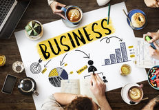 Business Growth Success Corporate Teamwork Concept Royalty Free Stock Image