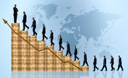 Business growth and success - financial graph Royalty Free Stock Image