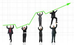 Business growth and success graph Stock Photography