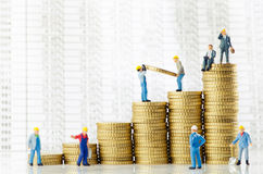 Business growth. Working men creating business growth Stock Photography