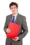 Business guy with a clipboard Stock Image