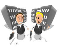 Business guys. 3D toon generated file Royalty Free Stock Photo