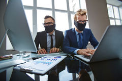 Business hackers Stock Image