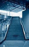 Business hall blue Stock Image