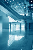 Business hall blue Royalty Free Stock Photography
