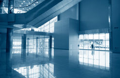 Business hall blue Royalty Free Stock Photo