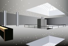 Business hall interior vector Stock Photography
