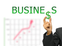 Business and hand Royalty Free Stock Photo