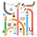 Business hand arm dollar the euro multicolored pile of mo Royalty Free Stock Image