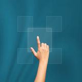 Business hand clicking Royalty Free Stock Photo