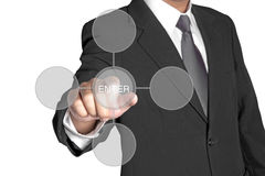 Business hand with Connection icons Royalty Free Stock Photography