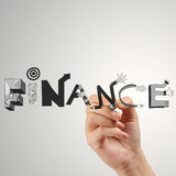 Business hand drawing graphic design FINANCE Stock Images
