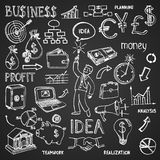 Business hand drawn doodles Royalty Free Stock Photo
