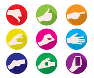 Business hand gestures color icon Royalty Free Stock Images