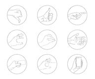 Business hand gestures contour icon Stock Photos